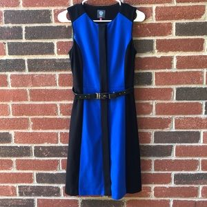 VINCE CAMUTO - Sterling Belted Shift Dress